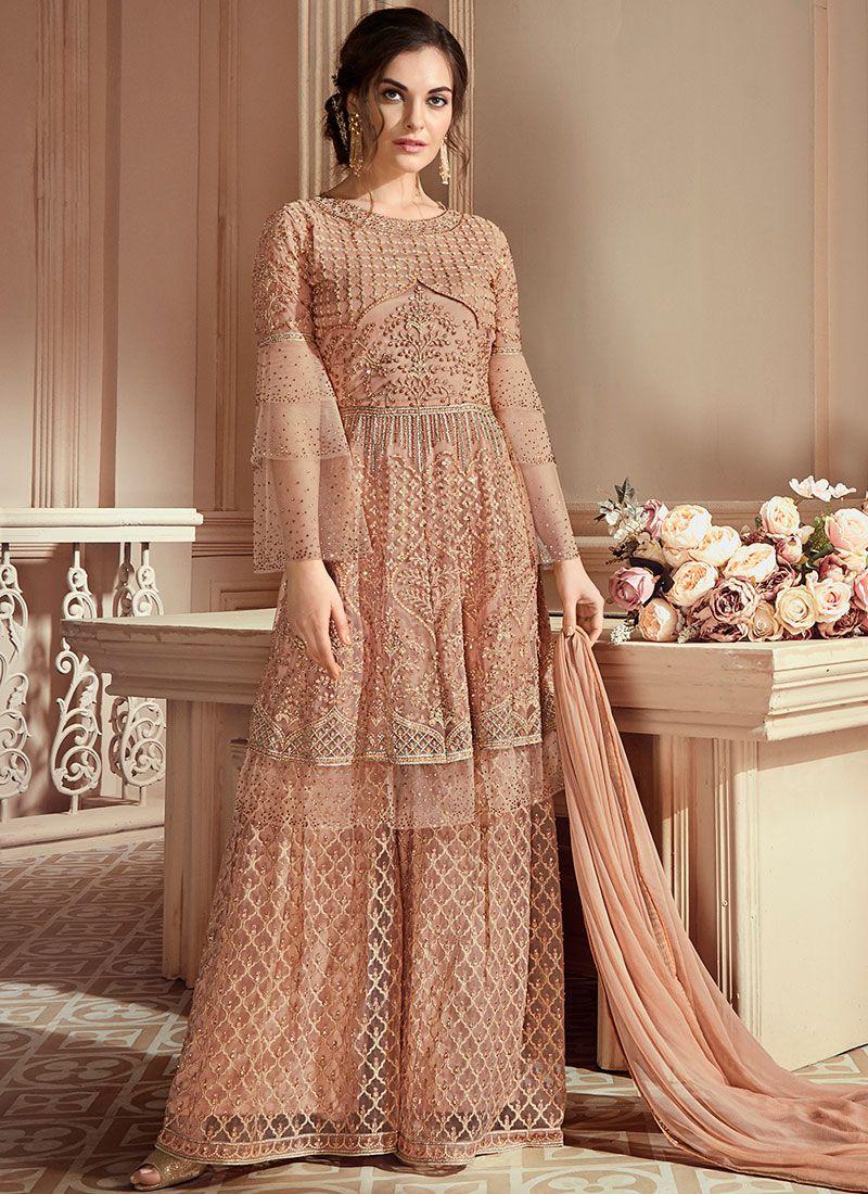 c4404f1509 Resham Net Designer Pakistani Suit buy online -