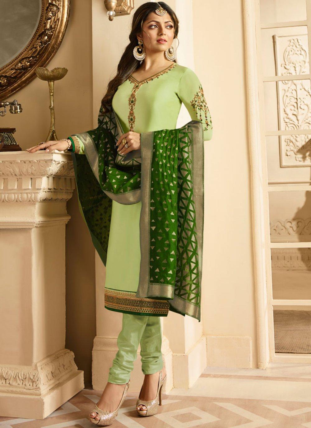 Resham Party Churidar Designer Suit