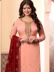 Resham Pink Ayesha Takia Churidar Designer Suit