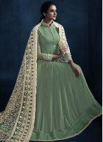 Resham Reception Floor Length Anarkali Suit