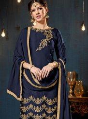 Resham Satin Designer Pakistani Suit