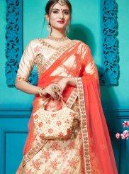Resham Satin Silk Designer Lehenga Choli