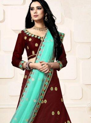 Resham Silk Designer Lehenga Choli
