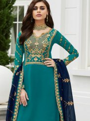 Resham Trendy Palazzo Salwar Suit