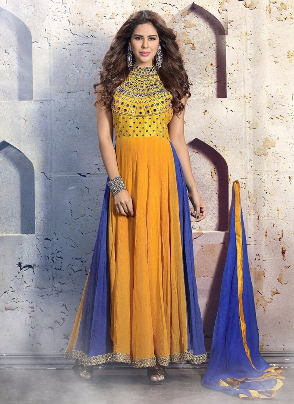 Resham Work Anarkali Salwar Suit