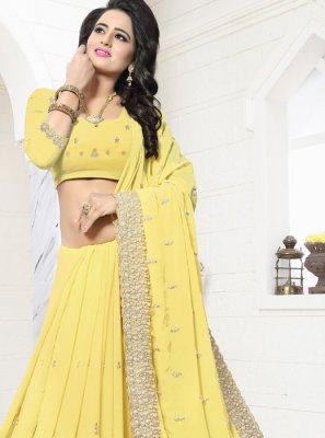 Resham Work Classic Designer Saree