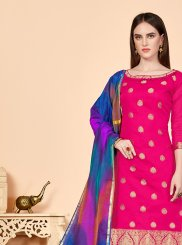 Rose Pink Churidar Designer Suit