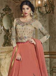 Rose Pink Embroidered Anarkali Suit