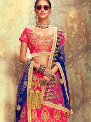 Rose Pink Embroidered Lehenga Choli