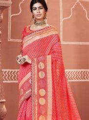 Rose Pink Festival Classic Designer Saree
