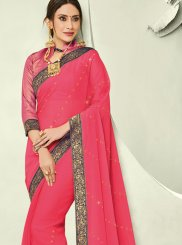 Rose Pink Festival Trendy Saree