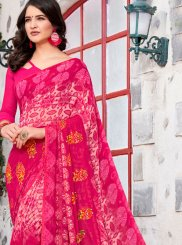Rose Pink Trendy Saree