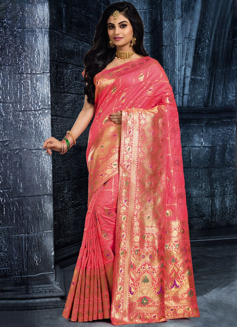 Rose Pink Wedding Classic Saree