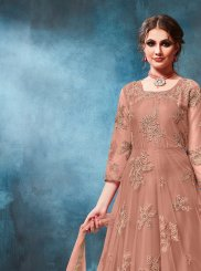 Rust Anarkali Salwar Suit