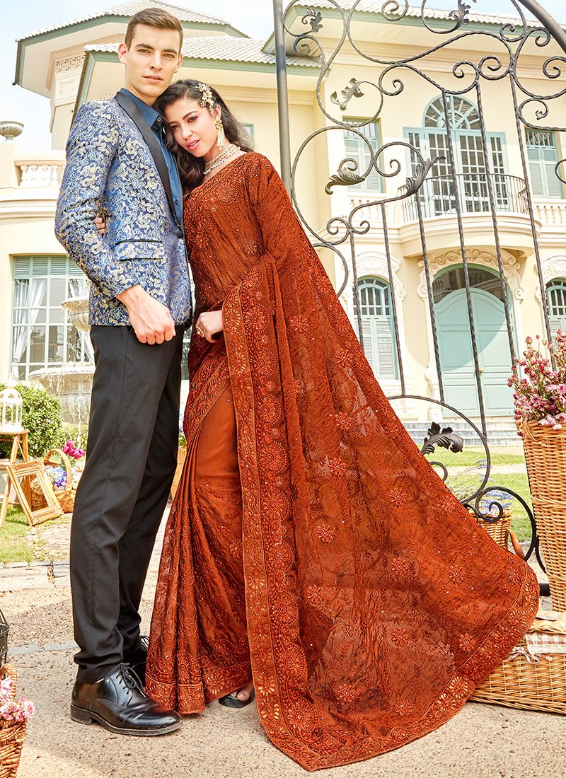 Rust Ceremonial Classic Saree
