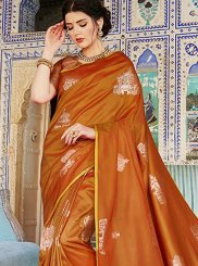 Rust Designer Saree