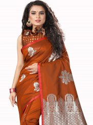 Rust Festival Designer Traditional Saree