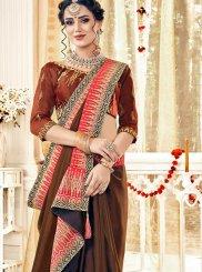 Rust Mehndi Classic Saree