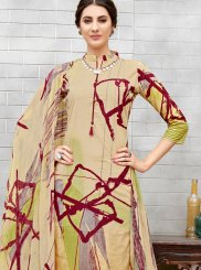 Salwar Suit Printed Cotton in Multi Colour