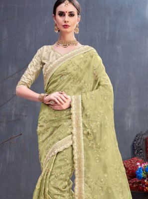 Saree Cord Organza in Green