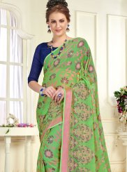 Saree Printed Brasso in Green