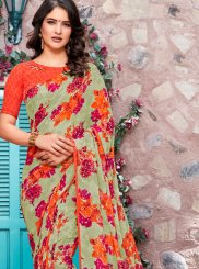 Saree Printed Georgette in Multi Colour