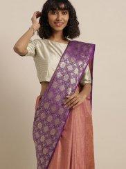 Saree Weaving Art Silk in Purple
