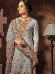 Satin Abstract Print Designer Palazzo Suit