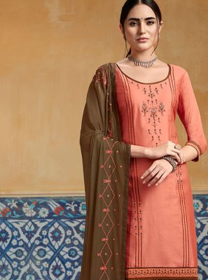 Satin Ceremonial Designer Patiala Suit