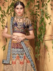 Satin Digital Print Multi Colour Designer Lehenga Choli