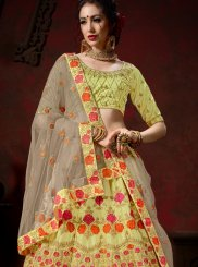 Satin Embroidered Designer Lehenga Choli