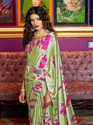 Satin Festival Printed Saree