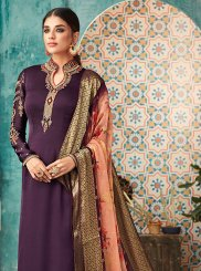 Satin Party Churidar Designer Suit