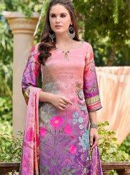 Satin Printed Designer Salwar Suit