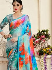 Satin Printed Multi Colour Casual Saree