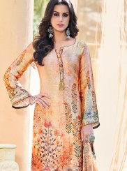 Satin Printed Pant Style Suit