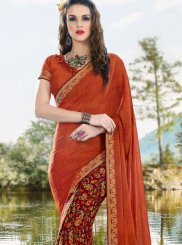 Satin Printed Saree