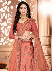Satin Silk Party Designer Lehenga Saree