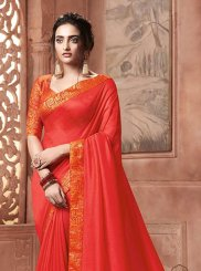Satin Silk Patch Border Designer Traditional Saree