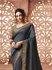 Satin Silk Patch Border Traditional Saree
