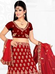 Satin Silk Trendy Designer Lehenga Choli