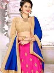 Satin Silk Zari Trendy Designer Lehenga Choli in Pink