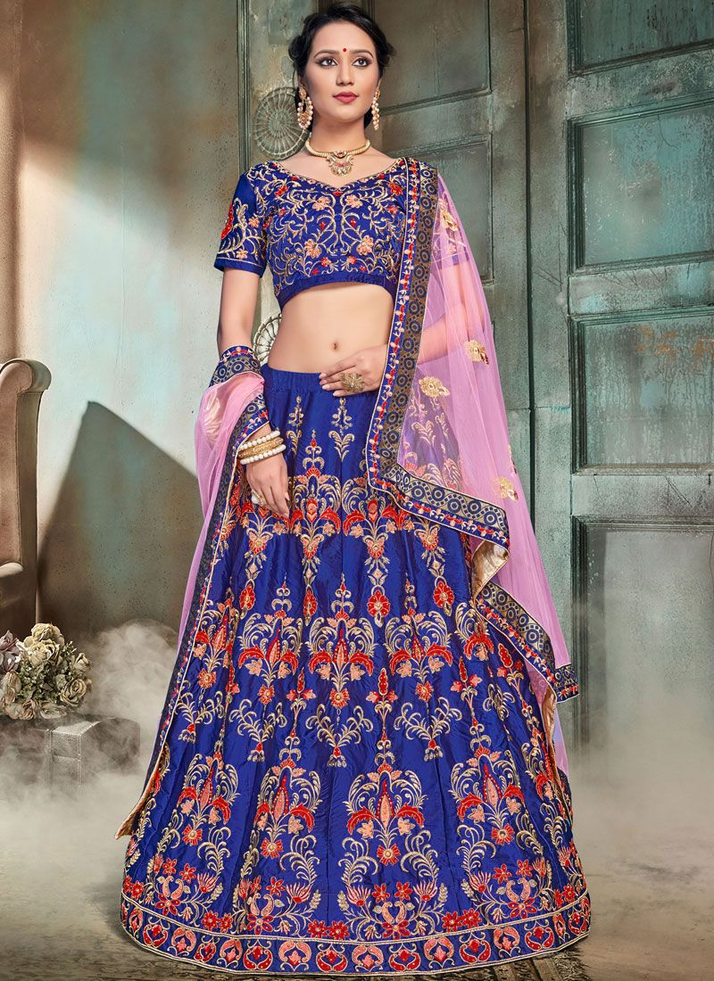 Satin Trendy Lehenga Choli
