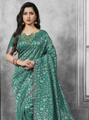 Sea Green Art Silk Ceremonial Designer Traditional Saree