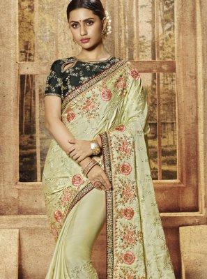 Sea Green Art Silk Silk Saree