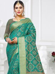 Sea Green Art Silk Weaving Designer Traditional Saree