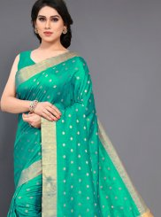 Sea Green Art Silk Woven Designer Traditional Saree