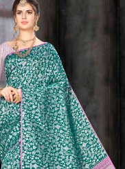 Sea Green Banarasi Silk Traditional Saree