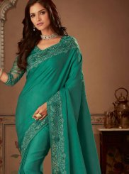 Sea Green Bridal Art Silk Designer Traditional Saree