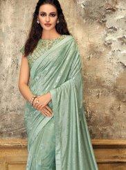 Sea Green Bridal Lycra Designer Saree